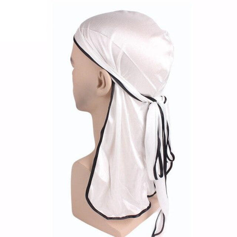 White durag black borders - Durag-Shop