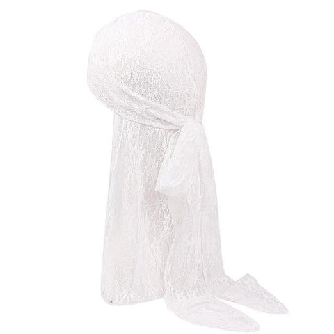 White lace durag - Durag-Shop
