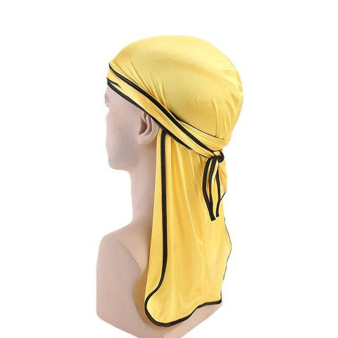 Yellow durag black borders - Durag-Shop