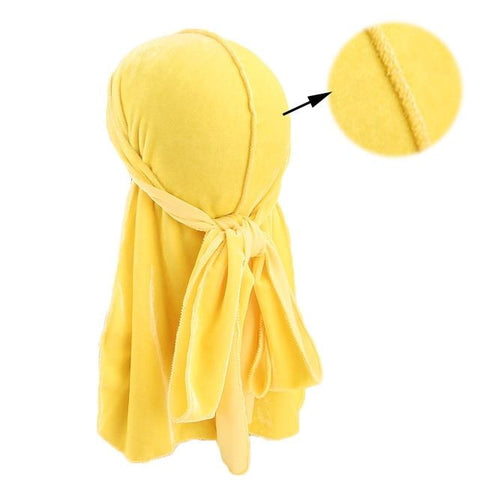 Yellow velvet durag - Durag-Shop