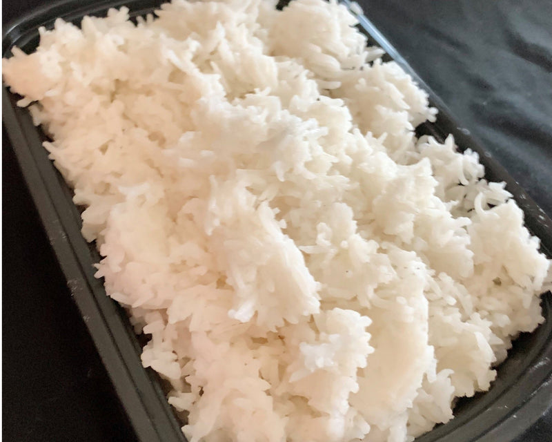 Jasmine Rice - Cal: 107 P: 2 C: 24 F: 0 (per 1/2 cup serving)