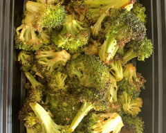 Garlic Roasted Broccoli - Cal: 50 P: 4 C: 11 F: .5 (per 1 cup serving)