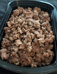 Grassfed Lean Ground Beef - Cal: 240 P: 32 C: 3 F: 8 (per 6oz serving)