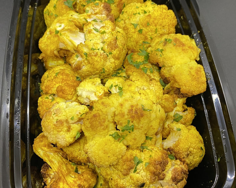 Curry Roasted Cauliflower - Cal: 40 P: 3 C: 8 F: 0 (per 1.5 cup serving)