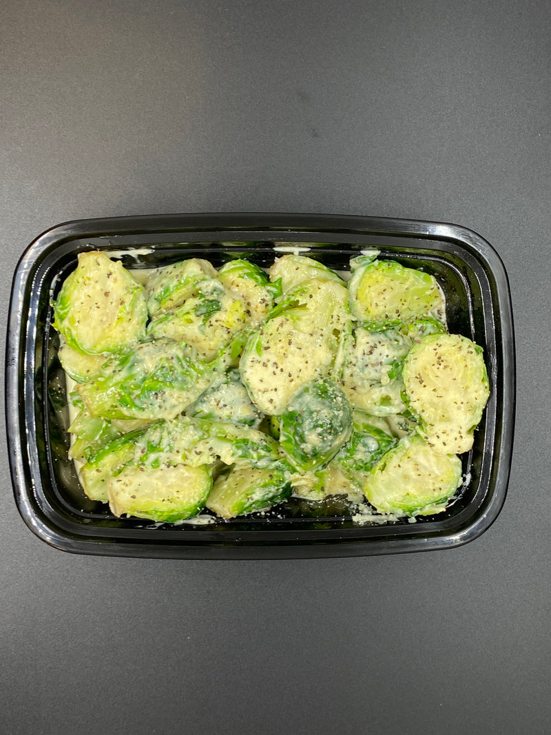 Keto Friendly Brussels Sprouts - Cal: 211 P: 2 C: 4 F: 19 Net Carbs: 4 (per 2oz Serving)