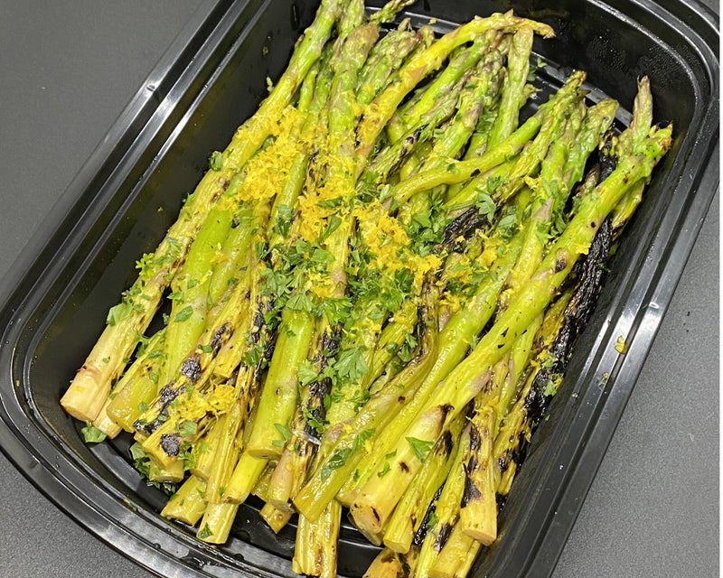 Lemon Grilled Asparagus - Cal: 15 P: 2 C: 3 F: 0 (per 4oz serving)