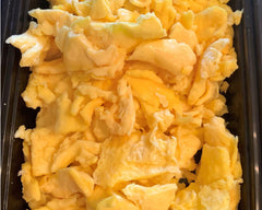 Scrambled Eggs - Cal: 187 P: 16 C: 0 F: 13 (per 1/2 cup serving)