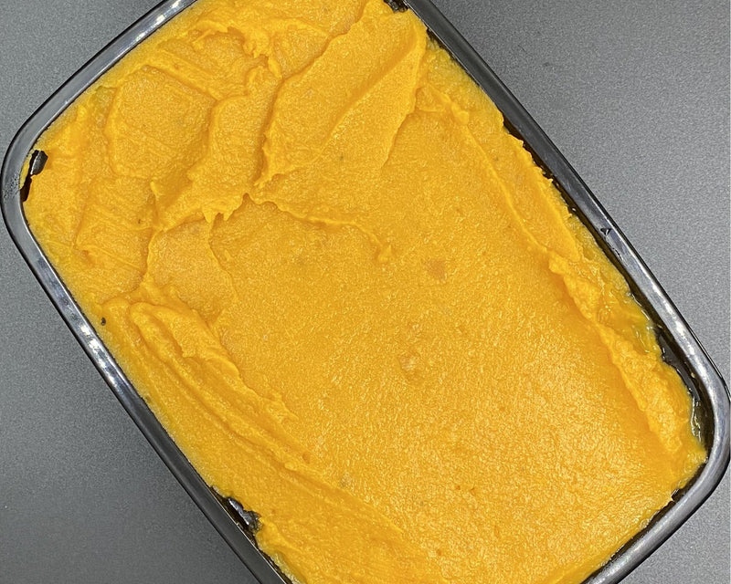 Mashed Sweet Potatoes w/ Cinnamon - Cal: 120 P: 2 C: 23 F: 2.5 (per 1/2 cup serving)