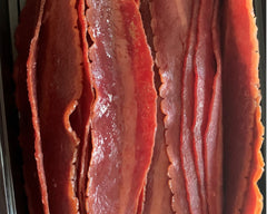 Turkey Bacon - Cal: 100 P: 12 C: 2 F: 5 (per 4 slice serving)