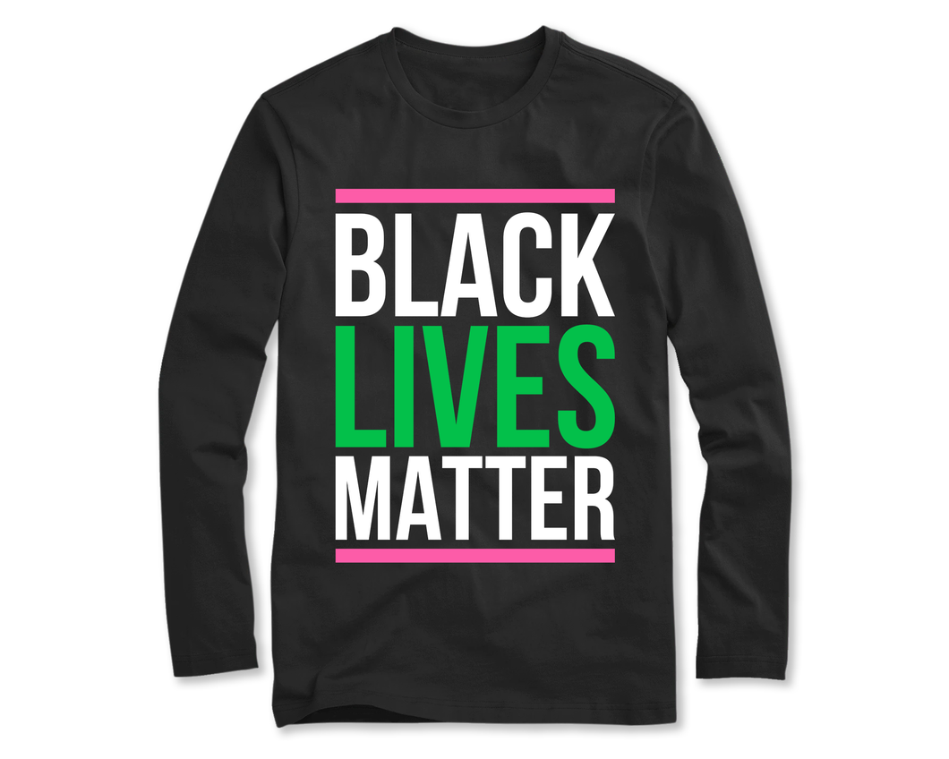 Black Lives Matter Long Sleeve (Pink)