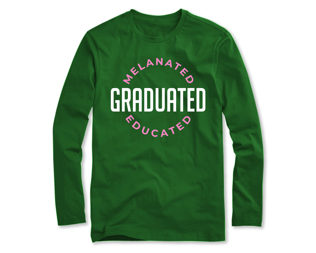 Melanated Graduated Long Sleeve (Pink)