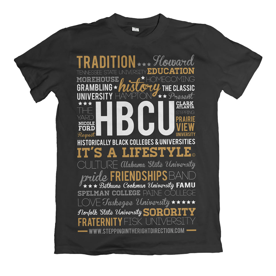 HBCU Lifestyle Gold Print Shirt