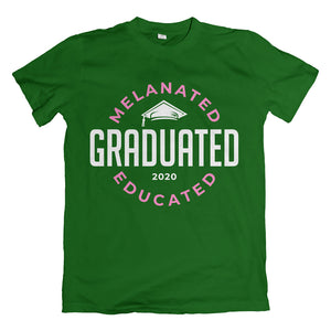 Melanated Graduated Green 2020 T-Shirt