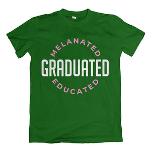 Melanated Graduated Green T-Shirt