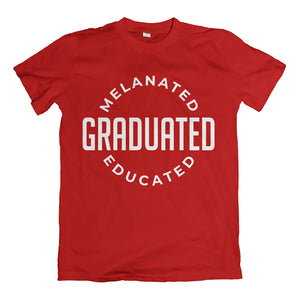 Melanated Graduated Red T-Shirt