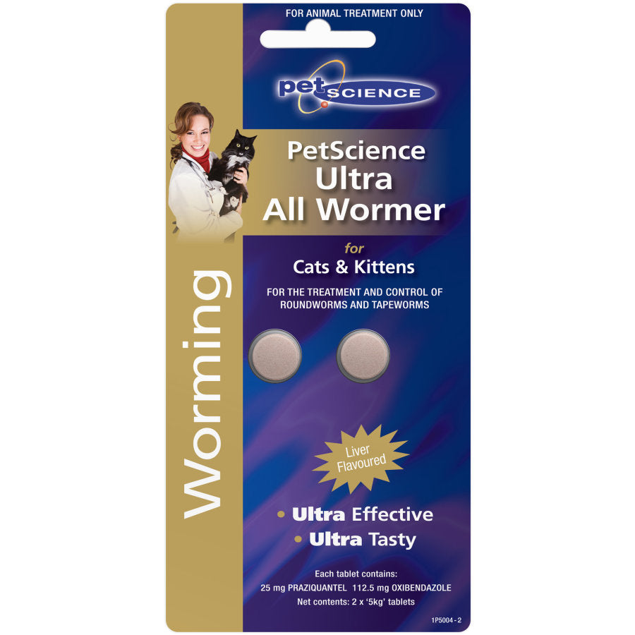 PetScience Ultra All wormer for Cats & Kittens