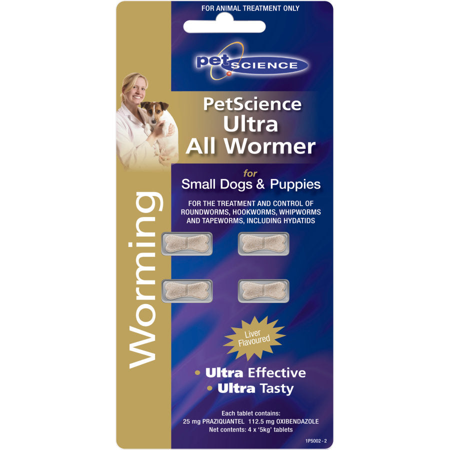 PetScience Ultra All wormer Small Dogs & Puppies