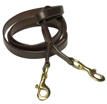 NZ Leather Lead w Double Clip
