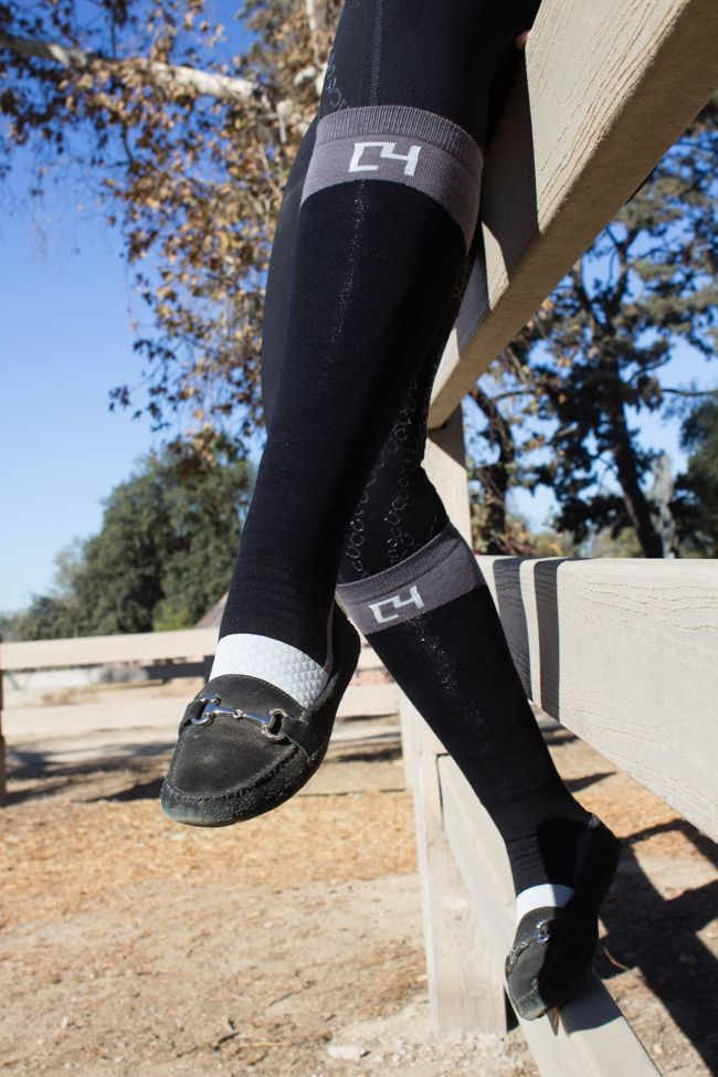 C4 Heels Down Riding Socks