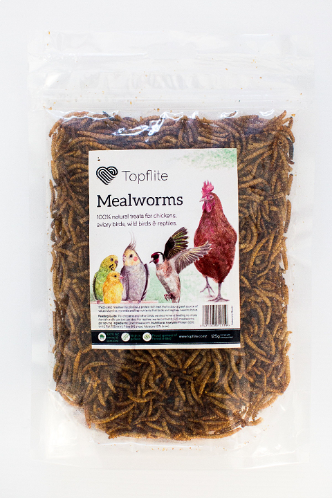 Topflite Dried Meal Worms 125g
