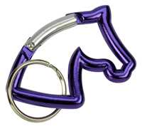 Horse Head Key Ring w Carabiner