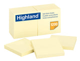 Hightland Stick on Notes 76x76 Yellow