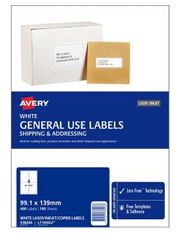 Avery GU Copier & Laser Labels Pack of 100