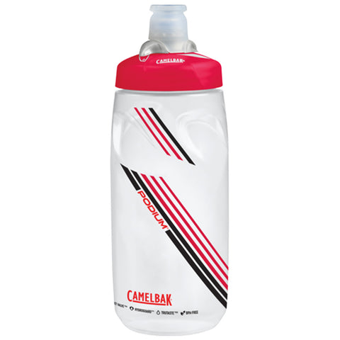 CAMELBAK PODIUM BOTTLE 600ML (21oz) CLEAR RED
