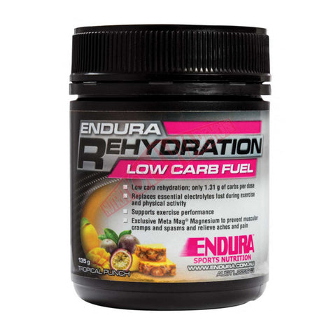 ENDURA REHYDRATION LOW CARB FUEL TROPICAL PUNCH 128G