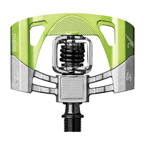 CRANKBROTHERS MALLET 2 PEDALS RAW/LIME GREEN