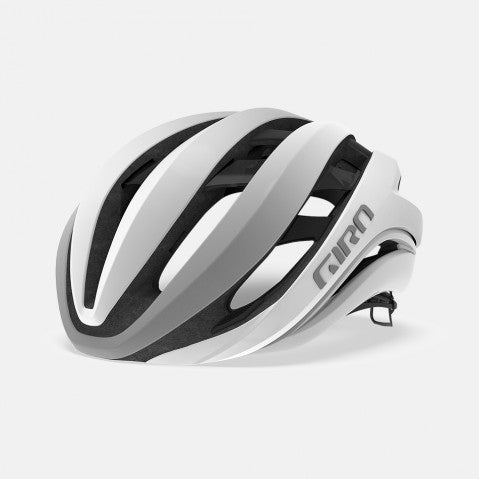 GIRO AETHER HELMET W/MIPS WHITE/SILVER - MEDIUM
