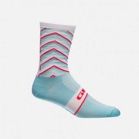 GIRO COMP RACER HIGH RISE SOCK - BLUE/RED - LARGE