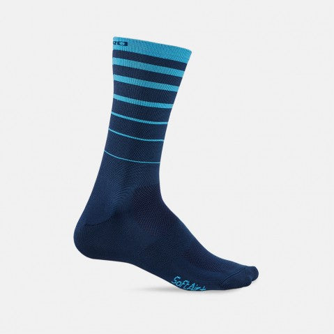 GIRO COMP RACER HIGH RISE SOCK - BLUE STRIPE - LARGE