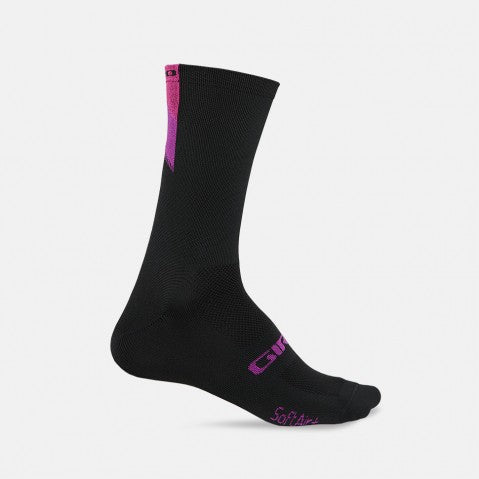 GIRO COMP RACER HIGH RISE SOCK - BRIGHT PINK/BLACK - XL