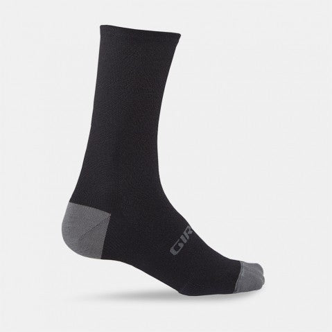 GIRO HRC+ MERINO SOCK - BLACK/SHADOW - LARGE