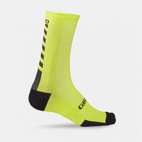 GIRO HRC+ MERINO SOCK - BRIGHT LIME/BLACK - LARGE