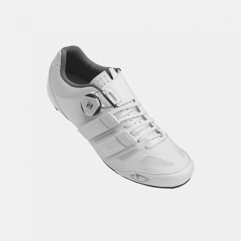 GIRO W'S RAES TECHLACE GBL ROAD SHOE - WHITE - SIZE 40