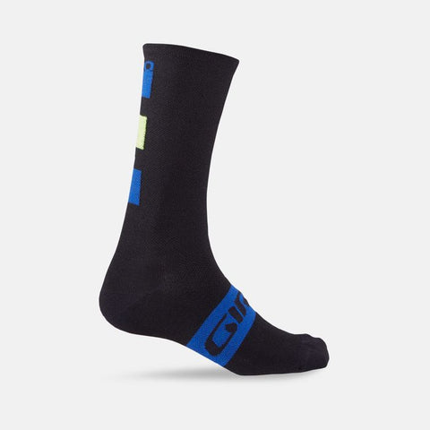 GIRO SEASONAL MERINO WOOL SOCK BLUE/BLACK - LARGE