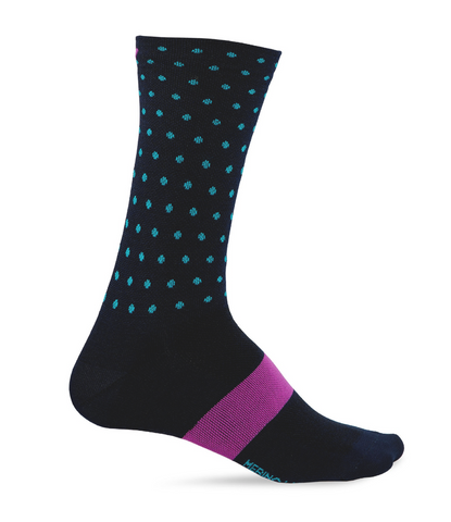 GIRO SEASONAL MERINO WOOL SOCK BLUE/MIDNIGHT - LARGE