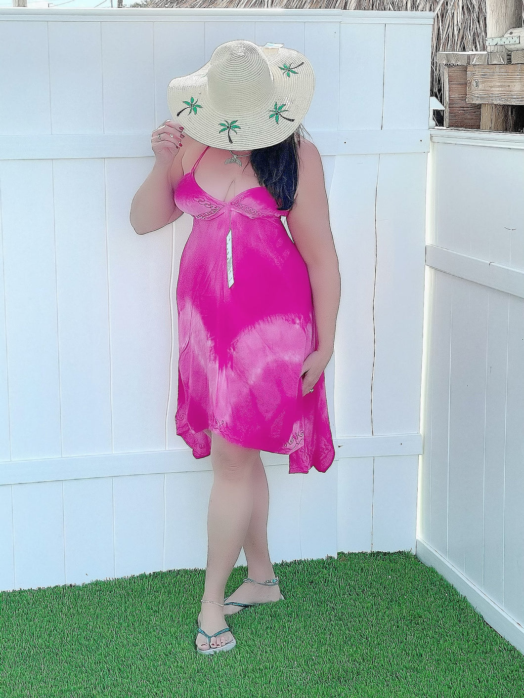 Tie Dyed Short Handkerchief Dresses / Bathing Cover up