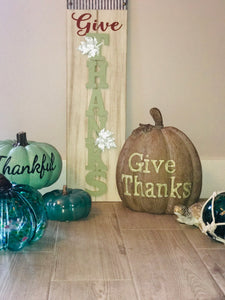 """Give Thanks"" Wall Decor Sign"