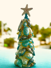 Load image into Gallery viewer, Coastal Christmas Holiday Tree with Shell Figures