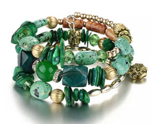 Load image into Gallery viewer, Green One Peace bracelet – stack look-alike
