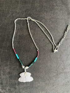 Dipped Leaf Necklace