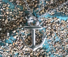 Load image into Gallery viewer, Silver Anchor Necklace