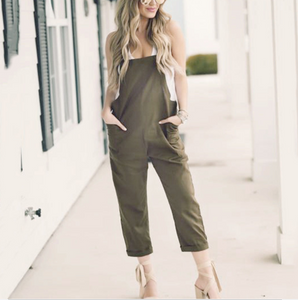 Sexy Slim Thin Green Wide Leg Jumpsuit