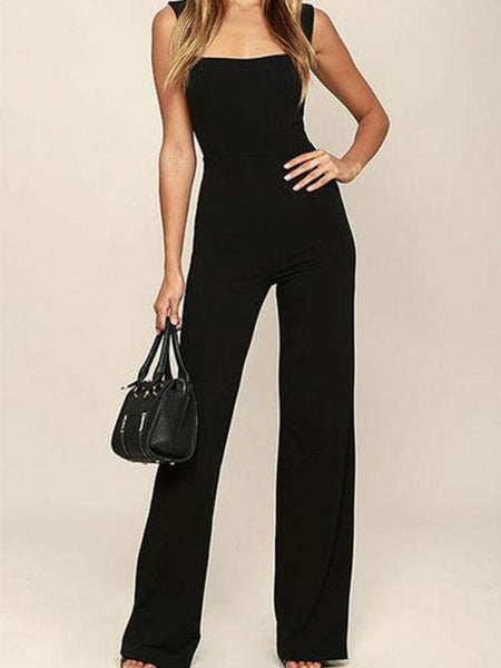 Sexy Elegant Sleeveless Jumpsuit In Black