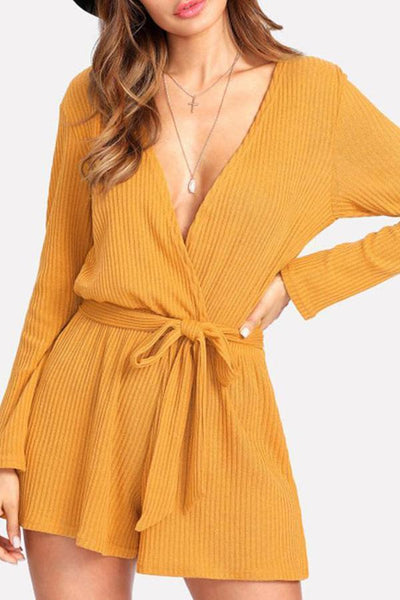 Sexy Deep V Long Sleeves Rompers