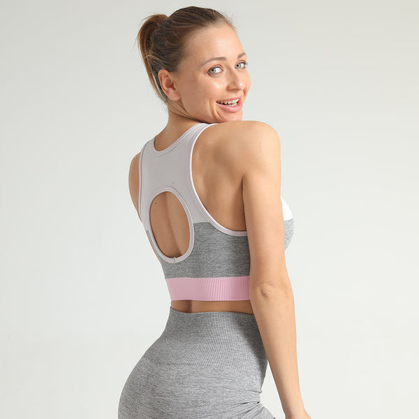 Seamless Knitted Sports Underwear Blending Sports Tops