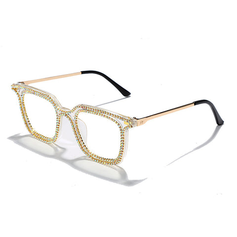 New hand chain flat mirror female myopic glasses